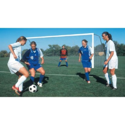 "18.5' ShootOut 2"" x 4"" Portable Aluminum Soccer Goals"